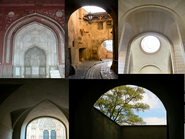 A collage of arches
