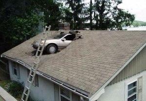 Car through Roof