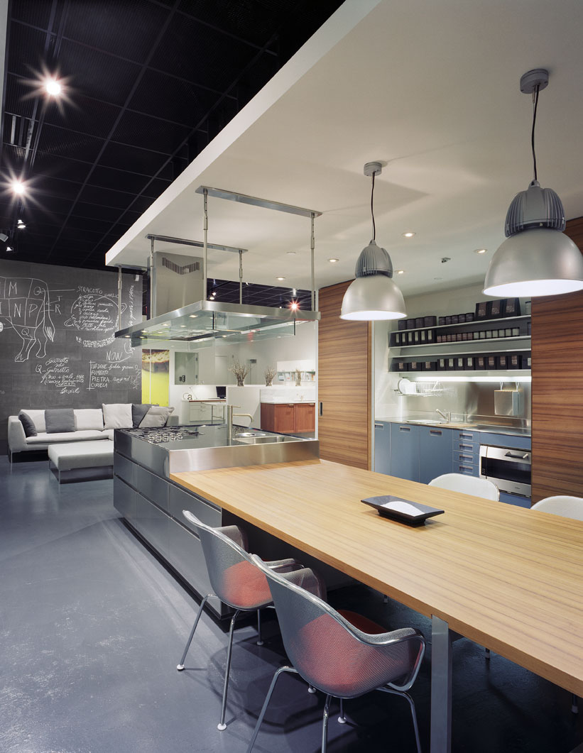a modern showroom kitchen